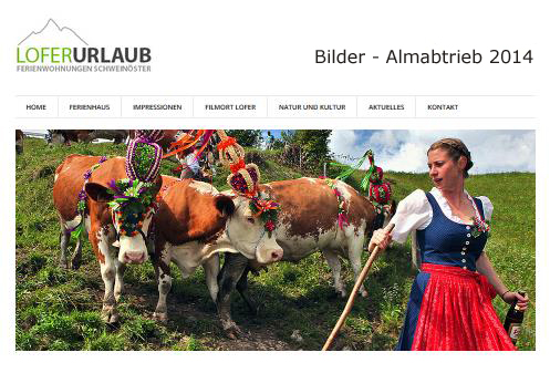 Almabtriebsfest  Lofer / St.Martin 2014